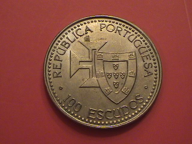"""Portugal, 100 Escudos 1989 """"Ilhas Canarias"""" SC/UNC y artículo en prensa DSC09036_zps2f87680e"""