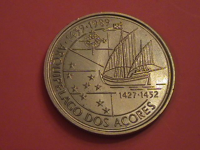 """Portugal, 100 Escudos 1989 """"Ilhas Canarias"""" SC/UNC y artículo en prensa DSC09037_zps14bfac02"""