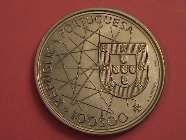 """Portugal, 100 Escudos 1989 """"Ilhas Canarias"""" SC/UNC y artículo en prensa DSC09038_zps60b994fe"""