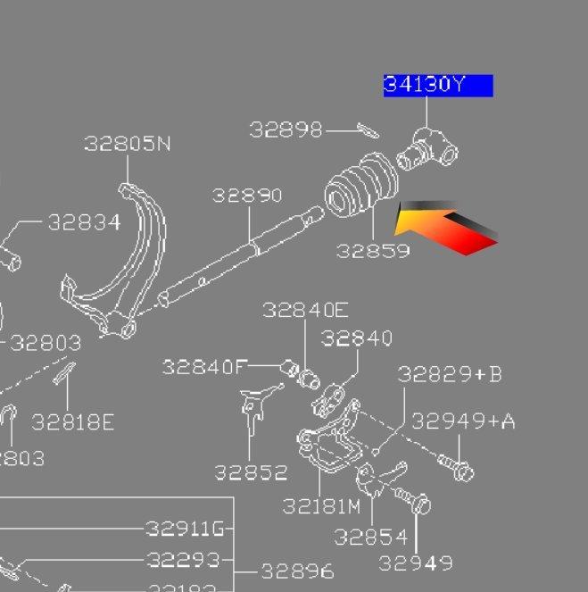 Gear linkage rubber boot Striker%20boot_zps21i5ljbn