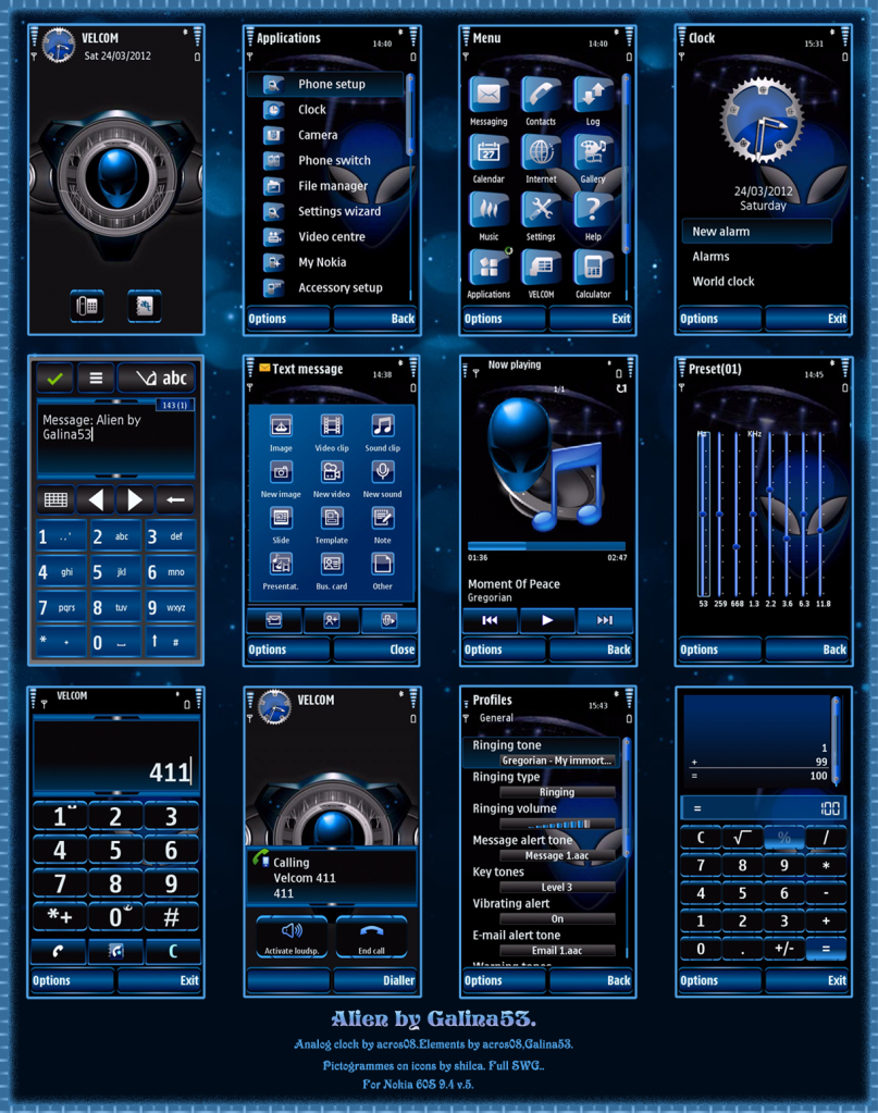 ثيم احترافي Alien by Galina53 S60v3 S60v5 Symbian^3 AlienbyGalina53