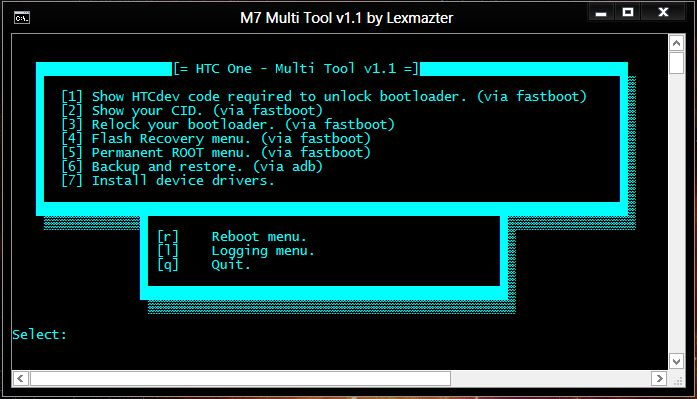 [TOOL] HTC One M7 Multi Tool v1.1 [23-may-2013] [Root|Recovery|HTC Code|CID|Backup&R] M7Toolv11_zpsaf65bff6