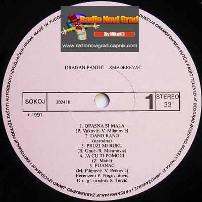 Albumi Narodne Muzike U 256kbps - 320kbps  - Page 6 DraganPanticSmederevac-Opasnasimala-Ploca-strana1