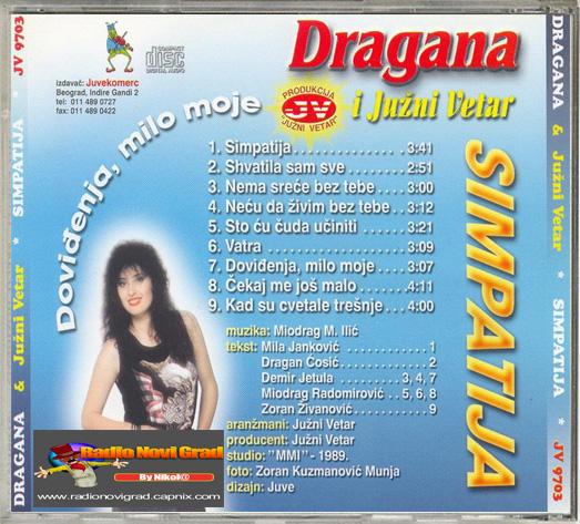 Albumi Narodne Muzike U 256kbps - 320kbps  - Page 9 DraganaMirkovic1989-Simpatija-ZS_zps5a6e62e4