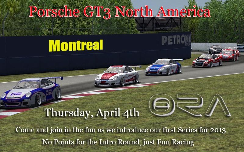 Intro Round - Porsche GT3 North America Series - Montreal PorscheSeries-R1_zps47178327