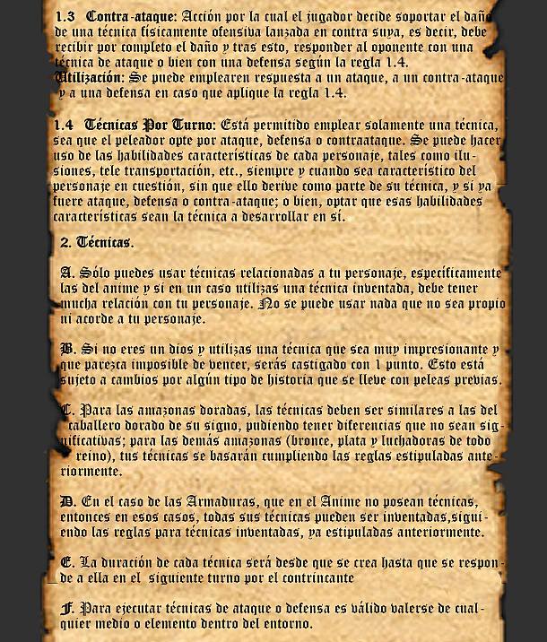 REGLAS GENERALES PARA BATALLA Pp2