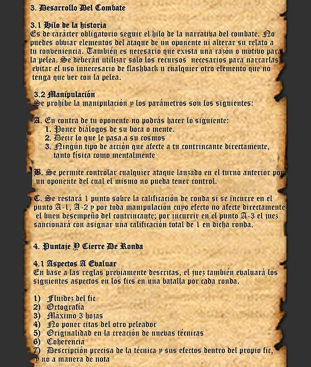 REGLAS GENERALES PARA BATALLA Pp3