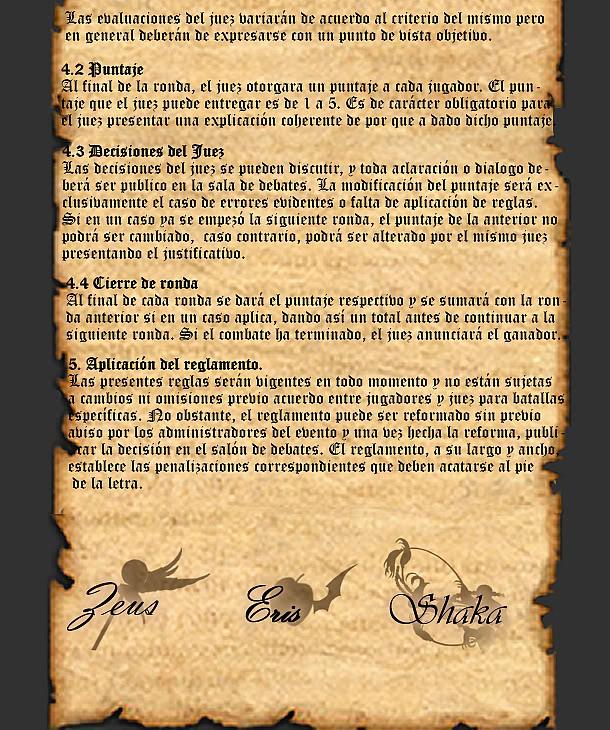 REGLAS GENERALES PARA BATALLA Pp4