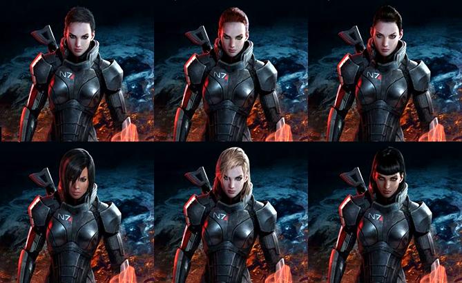 Серия Mass Effect Fem-shepard