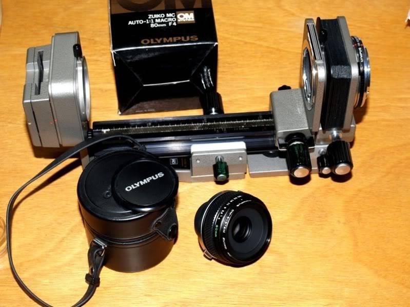 Trouvè!!Olympus OM 80mm pour soufflet!!(Ajoute) PC064131