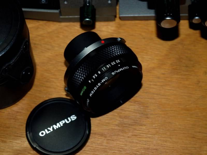 Trouvè!!Olympus OM 80mm pour soufflet!!(Ajoute) PC064132