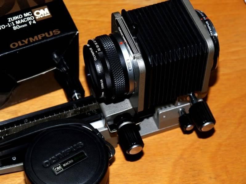 Trouvè!!Olympus OM 80mm pour soufflet!!(Ajoute) PC064133
