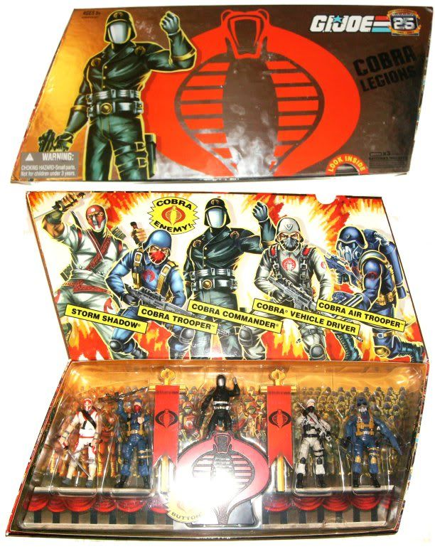 GI Joe 25th An. COBRA LEGIONS SET 2007 CL