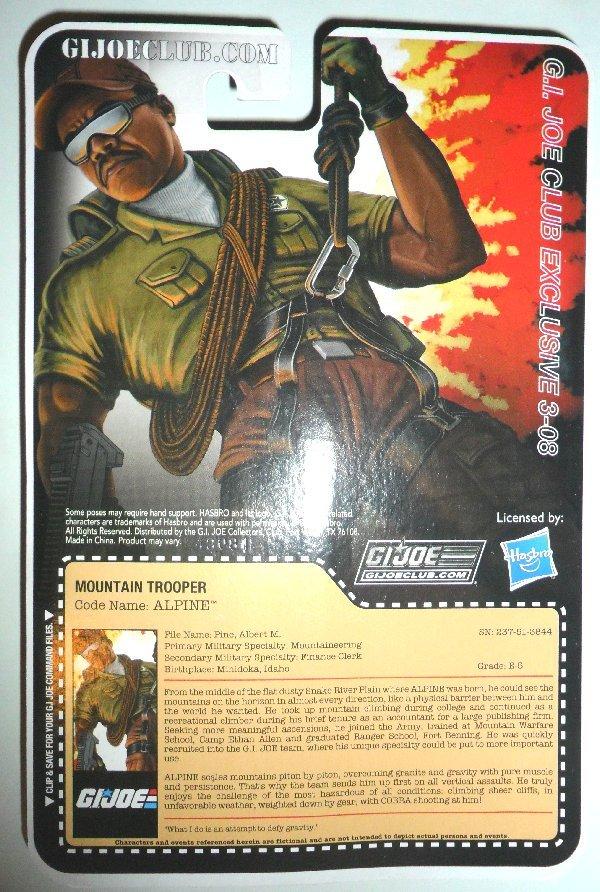 G.I. Joe Collector's Club - Figure Subscription Service 3 - 2014 15-FSS3-Alp-B