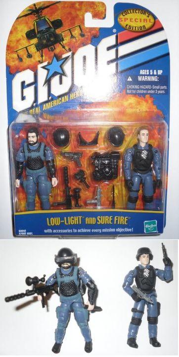 G.I. Joe - 2001 - Low-Light v5 e Sure Fire v1 - MOC LL-SF