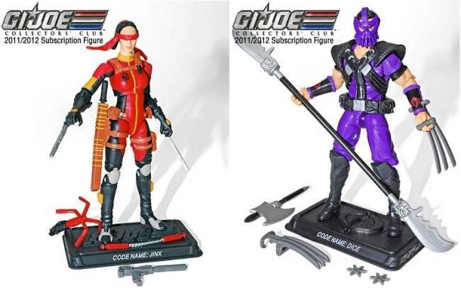 G.I. Joe Collector's Club - Figure Subscription Service 1 - 2013 Jinx-dice