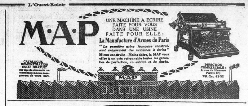 La Manufacture d'Armes de Paris (MAP) : Histoire des matériels fabriqués 19670