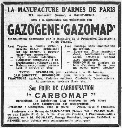 La Manufacture d'Armes de Paris (MAP) : Histoire des matériels fabriqués - Page 2 197