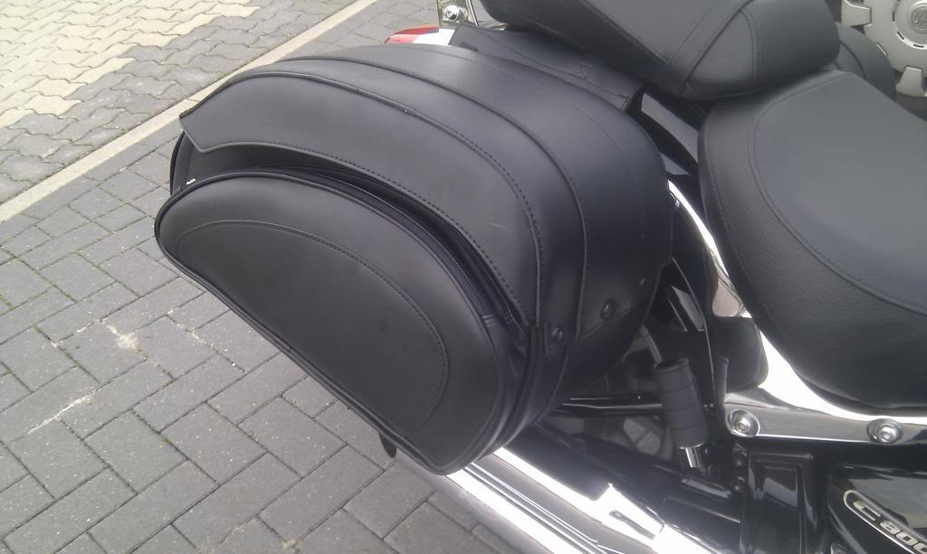Azcam's new Saddle bags and Sissy Bar .......... 2013 Suzuki C800C  IMAG0152_zpsb67b16e0