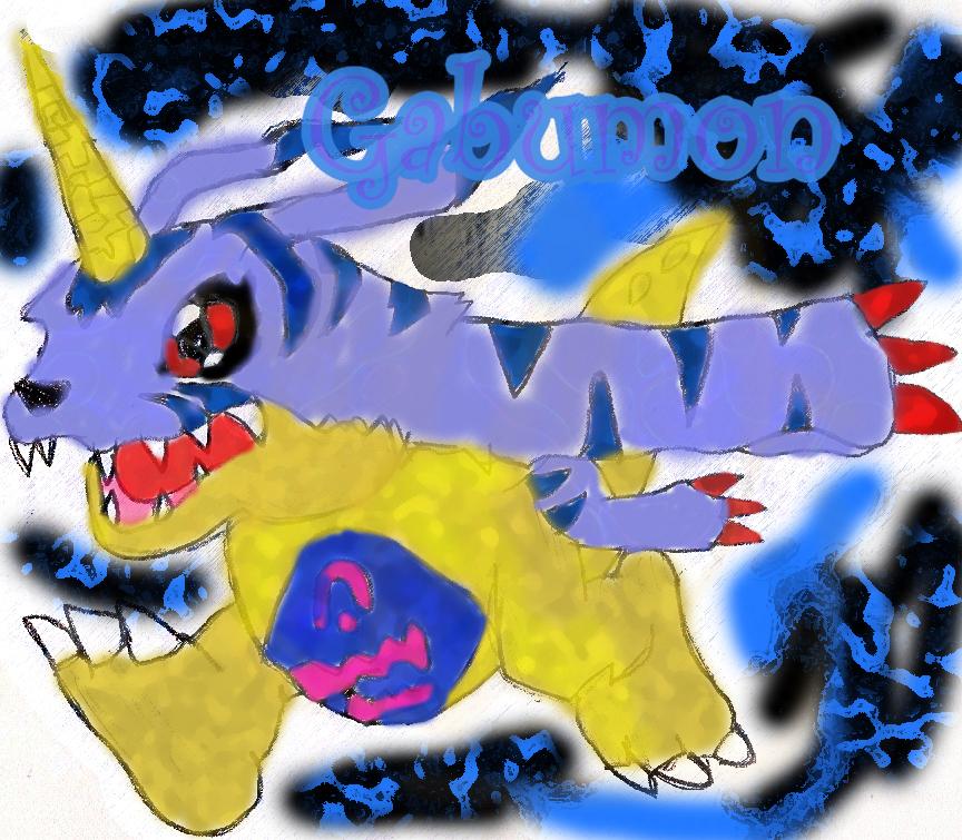 Dibujos de Digimon pintados por Photoshop Gabumonart