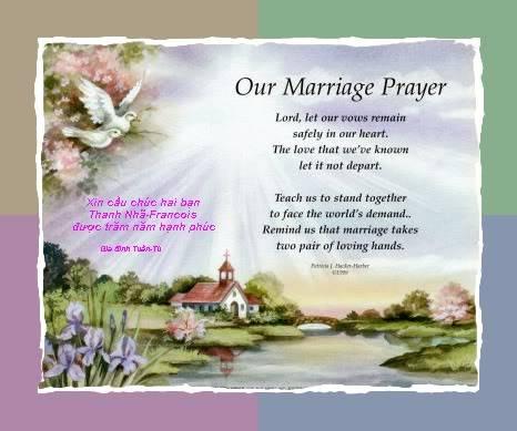 Chúc mừng Thanh Nhã và Francois Marriage-prayer