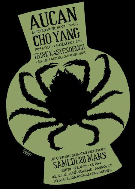 28/03 - AUCAN + Guests @u PIXI (Paris - Bagnolet) Ocinatas-280309-web-noir