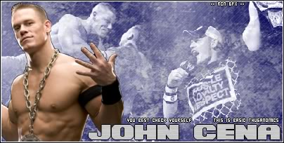 John Cena, Triple H & Trish Stratus vs Team Rated RKO JohnCenaBanner