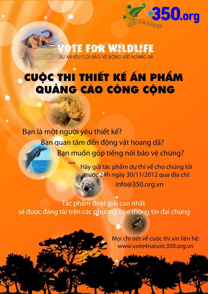 Cuộc thi thiết kế ấn phấm quảng cáo công cộng do 350.org Việt Nam phát động Posterchinhthuc