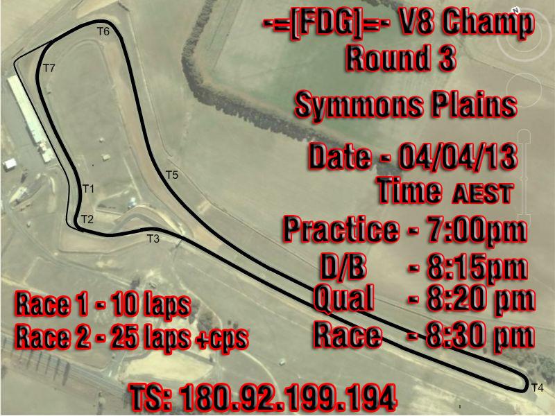 FDG -  V8 Factor Championship 2013 round 3 Symmons-Plains_zps96eb50ae