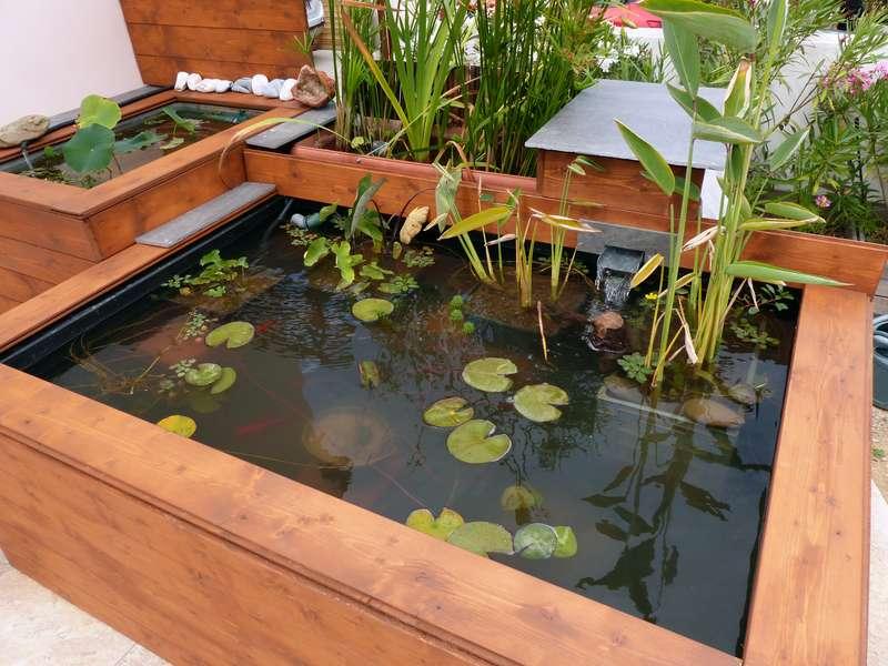 bassin hors sol de terrasse de patrice b. Black Bedroom Furniture Sets. Home Design Ideas
