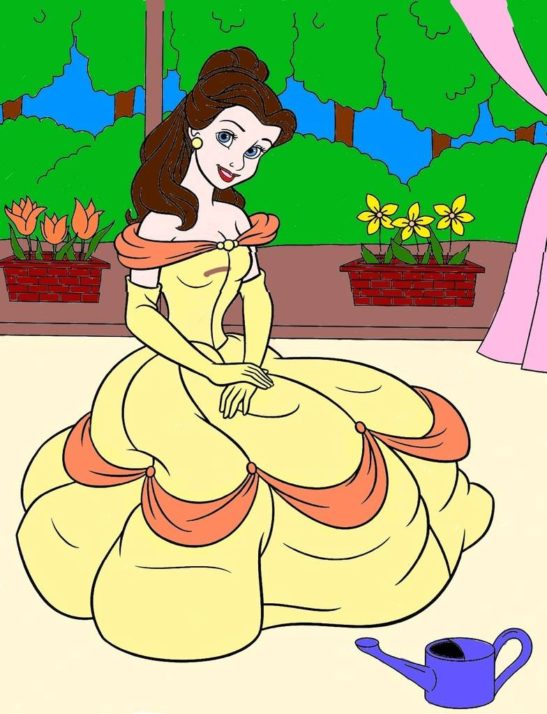 Trace's Activity Corner 27-disney-princess-belle-coloring-pages-printable_zpsbj4p0dnu