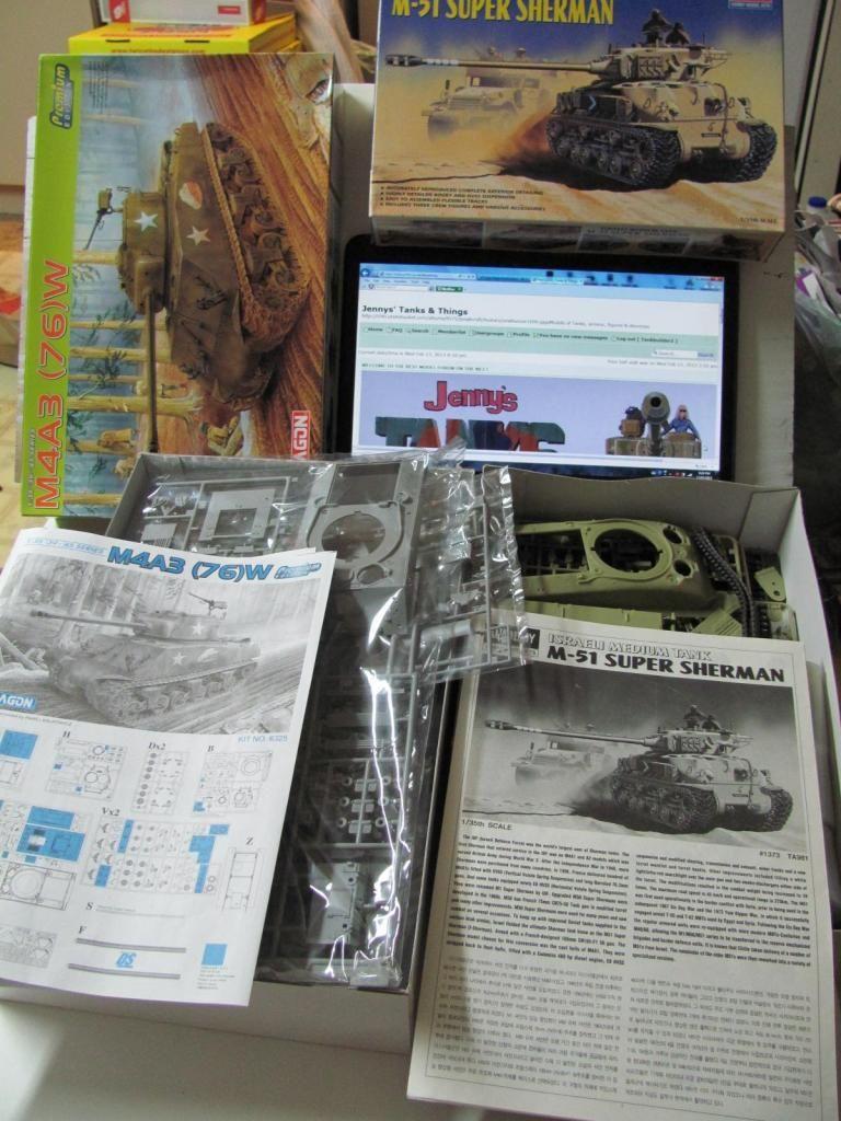 M-1 Sherman = Academy M-51 & Dragon M4A3 (Wet) kitbash IMG_1846a_zpsffc3298d