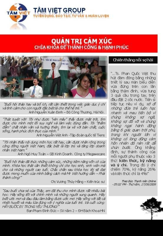 (Hot) Tâm Việt Group Hội thảo Quản trị cảm xúc. Slide2