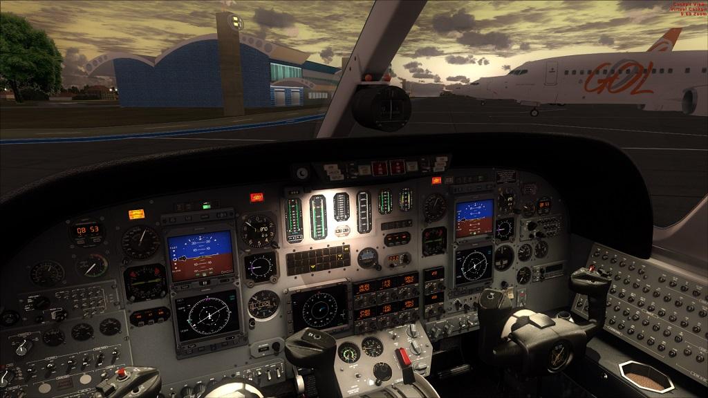 Lançado Citation 550 da Carendo algumas Screenshots excelente aeronave, Coloquei agora fotos do painel 1_zps33900178