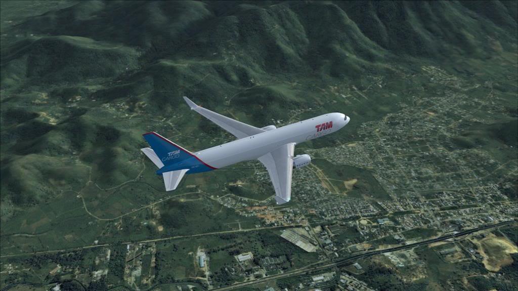 voo de SBGR para SBGL com 767 da level D TAM CARGO 7_zps552f6db1