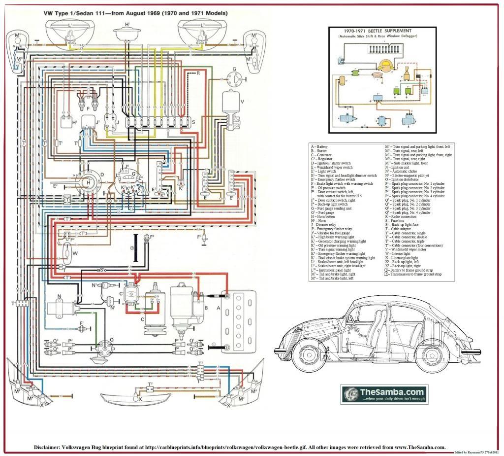 Diagrama electrico con desempañador 1970_VW_Type_1_Poster_zps08377365