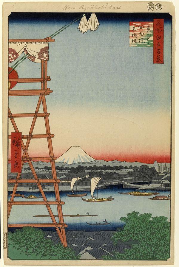 [Du lịch] Chùa Eko-in: Người hùng Robin Hood Nhật Bản và Sumo 4-Ryogoku-Ekoin-100-famous-views-of-edo-1189_zps51dc13e2