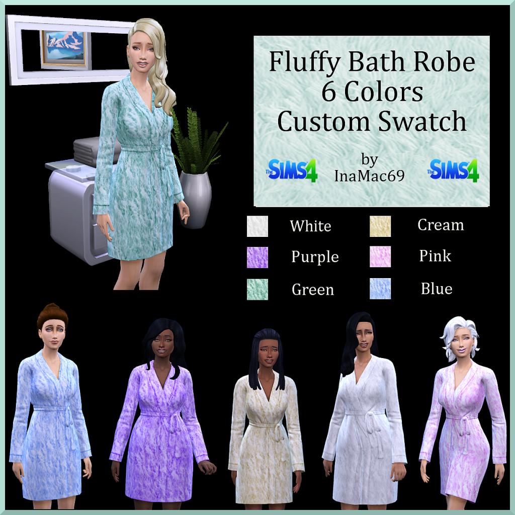Fluffy Bath Robe Bathrobe_zps479c2a0d