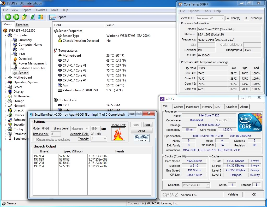 Test Results Of The Corsair H50 @ 4.0 GHz (Stock and Push / Pull) ScreenShot002-2