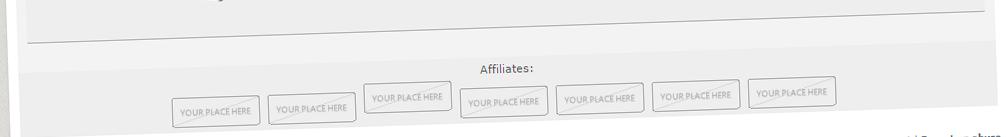 Affiliates - be our partner Affiliate