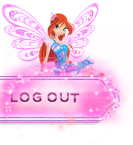 [Nav Bar] Sparkly Pink Nav Bar Buttons Logout_6