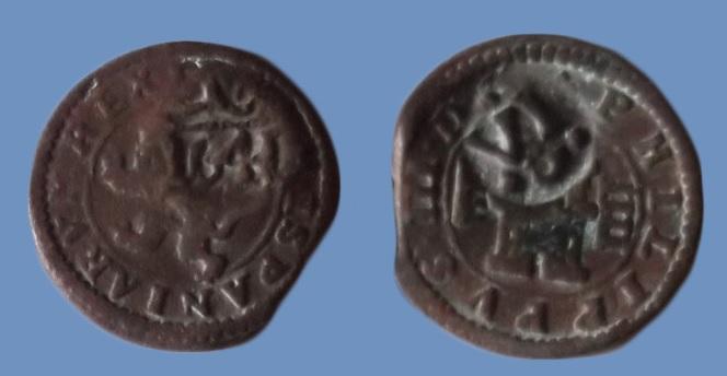 4 maravedís. Felipe III. Segovia. Resello a VI de 1641  112_zpsybcq2tvq