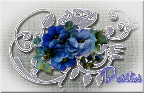 Flores Azules sobre Encaje Grisaceo Besitos_zpsxnpc2svk