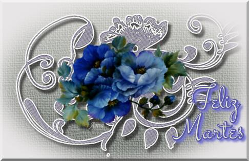 Flores Azules sobre Encaje Grisaceo Martes_zpswfp5vtvc