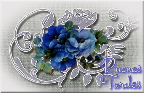 Flores Azules sobre Encaje Grisaceo Tardes_zps37mxd0bn