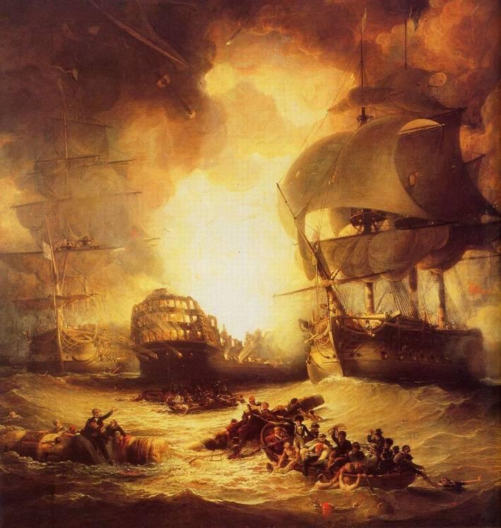 La bataille d'Aboukir. 1798 135%20Aboukir%20-%20Explosion%20de%20lOrient_zpsmdi5bpl9