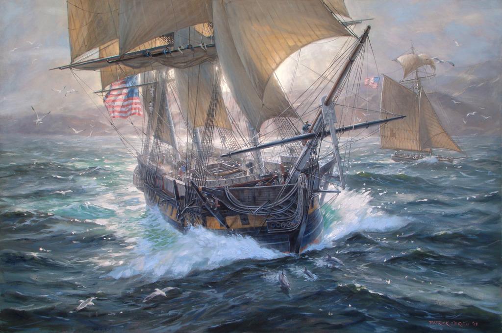 Dessins au crayon Geoff%20Hunt%20-USS-Constellation-on-Patrol_zps0eojypml