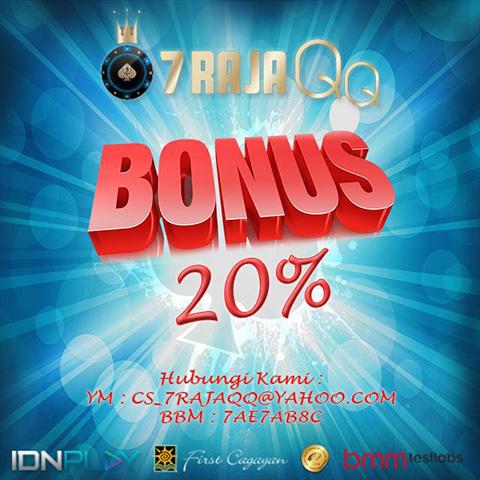7RajaQQ.com | Bonus Deposit 20% | Agen Poker Aman Terpercaya dan Terbaik Promo8_zpszq3xuenp