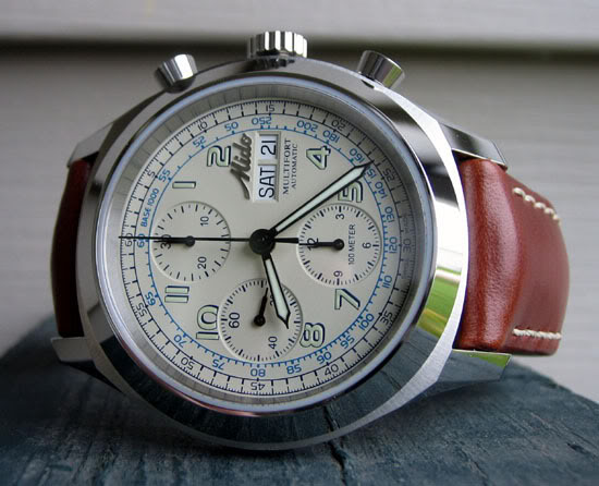 Mido Multifort Chronograph with Champagne Dial MidoFront