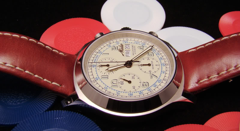 Mido Multifort Chronograph with Champagne Dial MidoMFConChips